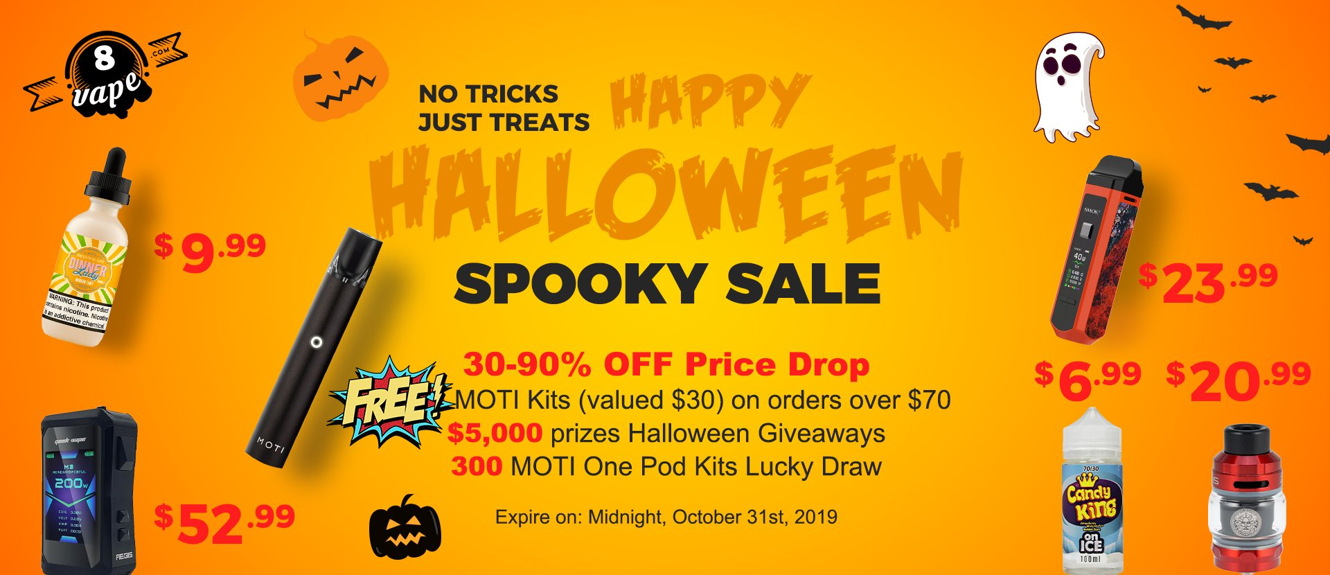 EightVape Halloween Sale