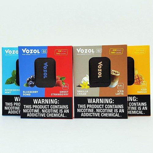 Vozol D2 Flavors