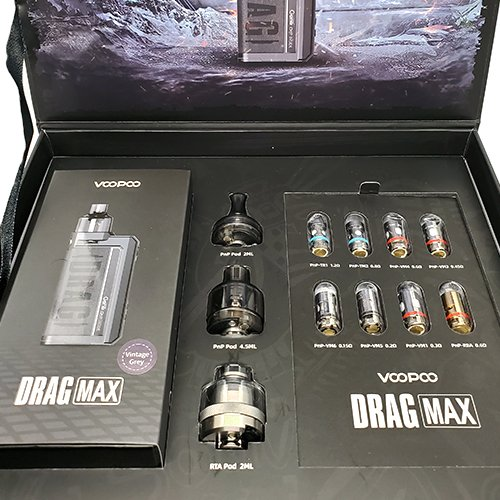 Voopoo Drag Max Special Edition Box Contents 2