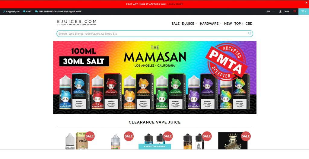 ejuices.com Best Online Vape Shop